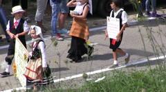 Italy - campania - Harvest Festival - Festa del Grano Stock Footage