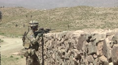 Afghanistan Army training with US Forces - stock footage