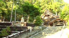 Ancient Temple Near Lake Biwa in Japan Stock Footage
