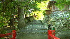 Going to an Ancient Temple in Japan Stock Footage
