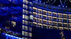 Modern building in Berlin - stock footage
