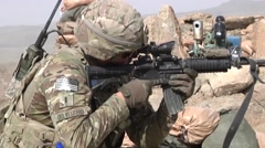 Stock Video Footage of Afghan Nation Army Training with US Forces