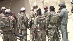 Afghan Nation Army Training with US Forces Stock Footage