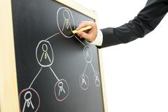Business hierarchy Stock Photos
