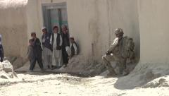 Afghan Nation Army Training with US Forces - stock footage