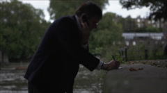 Man on mobile phone Telephone call Stock Footage
