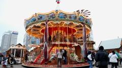 Carousel in Berlin - stock footage