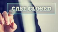 Case closed Stock Photos