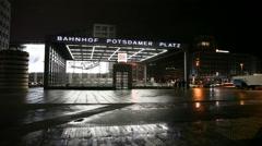 Bahnhof Postdamer Platz Berlin - stock footage