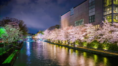 Kyoto, Japan Spring Canal Scene Stock Footage