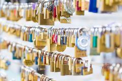 Forever love lockers. - stock photo