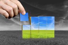Ecological or positive concept Stock Photos
