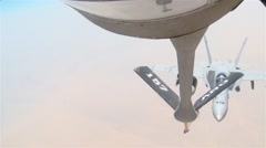 US-AirForce-SouthernAfghanistan-KC135RStratotanker-AirRefuling01-F A18C Horne Stock Footage