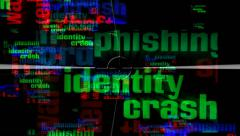 Identity crash - Warning about the danger of the network Stock Footage