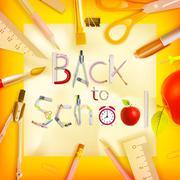 Stock Illustration of School season invitation template. EPS 10
