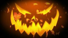 Autumn Leaves Halloween Stock Footage