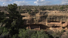 Mesa Verde Colorado Pueblo Indian cliff dwelling forest fire 4K 097 Stock Footage