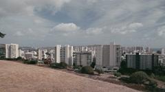 1080p, pan along honolulu skyline, oahu, hawaii Stock Footage