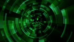 Green techno animation. Loop between 6:00-18:00. Abstract concentric circles. Stock Footage