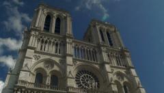 Paris Notre Dame Church Stock Footage