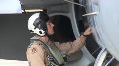 US Navy Marine Fighter Pilot Checks Turbine Stock Footage