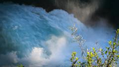 Spectacular waterfall. Huka Falls, New Zealand. Stock Footage