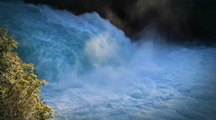 Slow motion waterfall. Huka Falls, New Zealand. Stock Footage