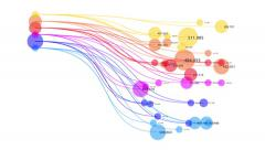 Abstract infographic chart. Graph of connected lines, dots. Stock Footage