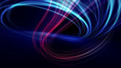 Blue light streaks abstract background animation. Loop from 14 seconds onwards. Stock Footage