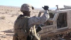 US Marines Vehicle Recovery Stock Footage