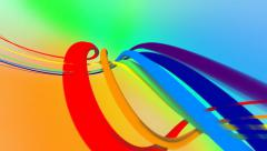 Abstract rainbow streaks of light on light background. Loop from 4:00 to 24:00. Stock Footage