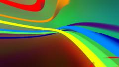 Abstract rainbow streaks of light on dark background. Loop from 4:00 to 24:00. Stock Footage