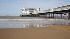 Weston-super-Mare Somerset England UK in sunshine August 2014 Stock Footage