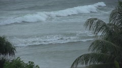 Waves white capping in distance, Bentotta Stock Footage