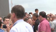 US President Obama Speak With Viewer Stock Footage