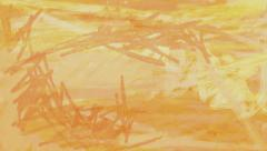 Paint brush strokes loop. Abstract orange background texture animation. Stock Footage