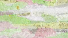 Scrapbook background texture animation loop. Collage of layers of old torn paper Stock Footage