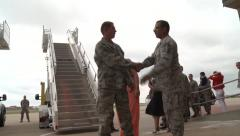 Viewer Welcome At Airfield - stock footage