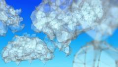 Pako cloud computing verkostojen linjat ja pisteitä. Looping. Arkistovideo