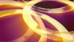 Gold rings: abstract modern background loop. Shining 3D glass rings. Stock Footage