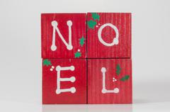 noel blocks - stock photo