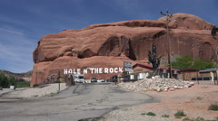 Moab Utah Hole in the Rock tourist destination 4K 295 Stock Footage