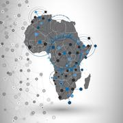 Africa map background vector, illustration for communication Stock Illustration