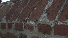 Old fortress wall Stock Footage