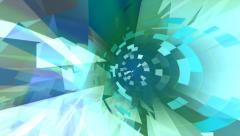 Abstract techno background loop animation with circular and geometric shapes. Stock Footage