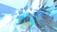 Abstract techno background loop. Shattered glass animation with geometric shapes Stock Footage