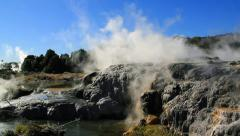 Geothermal landscape, Rotorua, New Zealand. Stock Footage