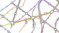 Transport network map. Generic growing public transportation network. - stock footage