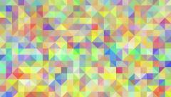 Triangles mosaic loop. Geometric abstract multi-colored pixelated background. - stock footage