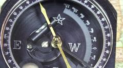 Surveyor compass U.S.A. map Stock Footage